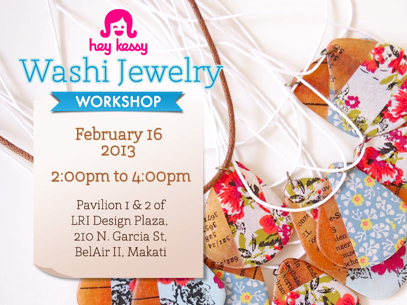 Hey Kessy Washi Jewelry Workshop
