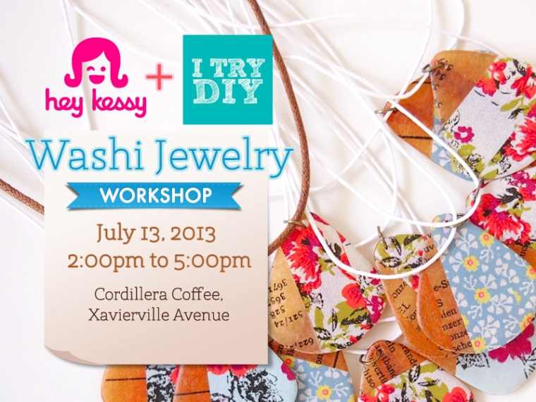 Washi + Patterned Paper Jewelry Workshop